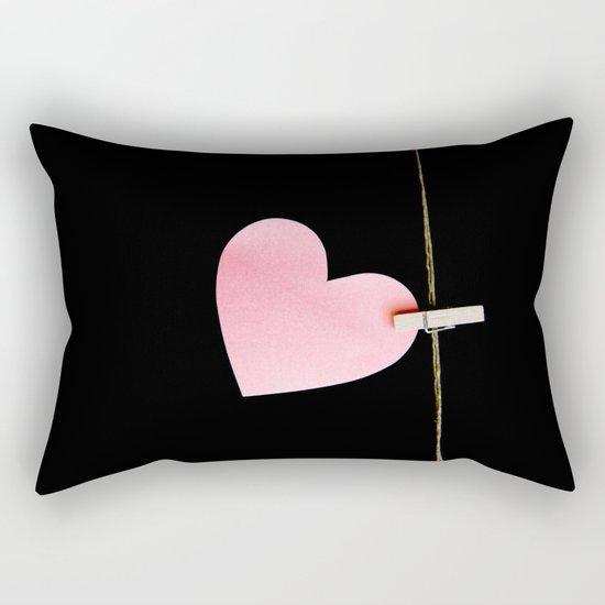 Heart of paper Rectangular Pillow