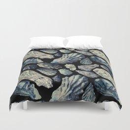 Sea Foam Oyster Shells Duvet Cover