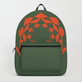 Orange Retro Backpack