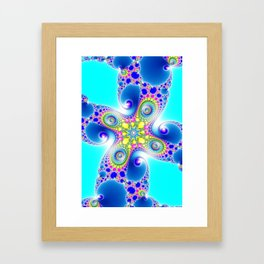 """Chaos Of Light"" Spiral Fractal Art Print Framed Art Print"