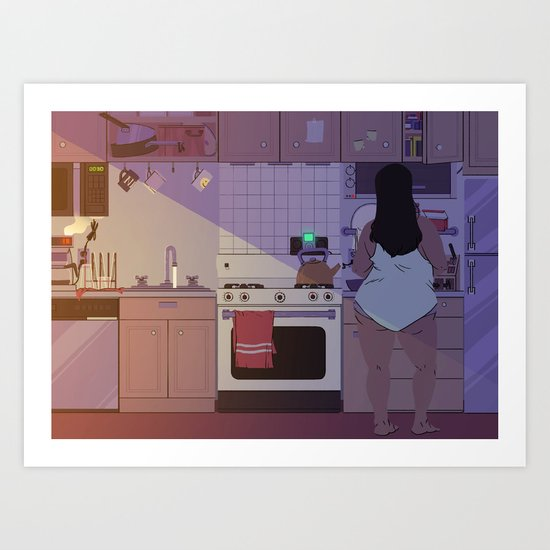 Breakfast Music Art Print