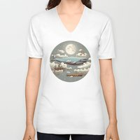 ocean V-neck T-shirts featuring Ocean Meets Sky (original) by Terry Fan