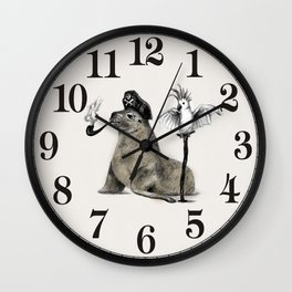 Pirate // seal parrot Wall Clock