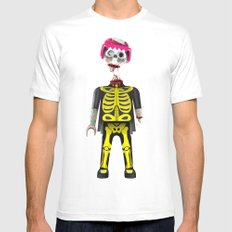 Playmo_Zombie_by LelosLovesYou MEDIUM White Mens Fitted Tee
