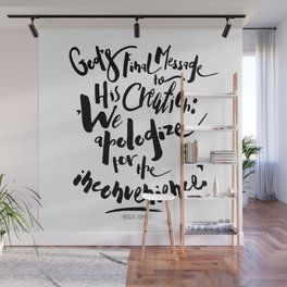 God's Final Message book quote design Wall Mural