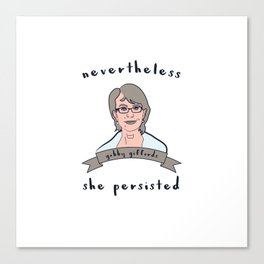 Nevertheless, Gabby Giffords Persisted Canvas Print