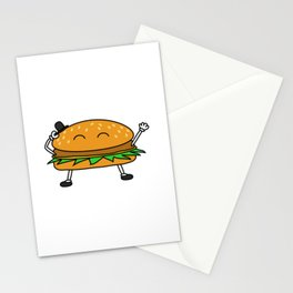 Burger with Hat Stationery Cards