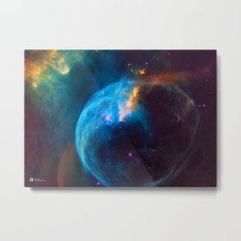 Hubble Telescope: Bubble Nebula (2016), NGC 7635 Metal Print