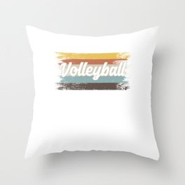 Volleyball Team Ball Game Spiking Action Sports Retro Vintage Distressed Volleyball Gift Throw Pillow