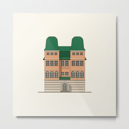 Brick house with towers Metal Print