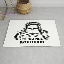 FAC 1 tribute - Factory Records - Use Hearing Protection Rug