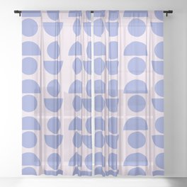Shapes in Periwinkle Sheer Curtain