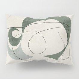 Minimalist Abstract Art Shapes - Scribbles Hunter Green 1 Pillow Sham