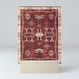 N252 - Bohemian Oriental Heritage Berber Moroccan Style Mini Art Print