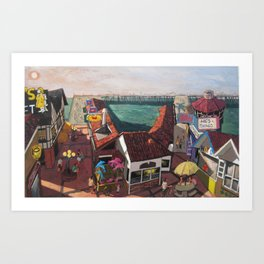 Redondo Beach Pier Art Print