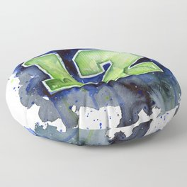 Seattle 12th Man Art Floor Pillow