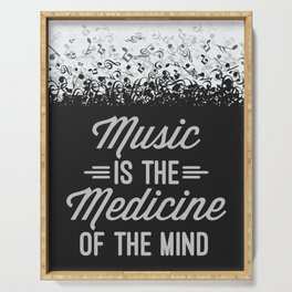 Music Medicine Mind Quote Serving Tray