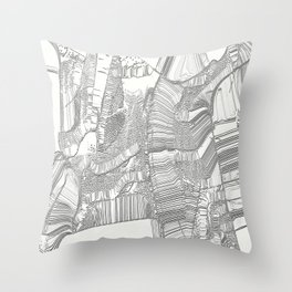 Black and white design Throw Pillow