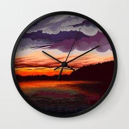 Horizon lake Wall Clock