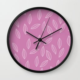 Rosé Leaves Wall Clock