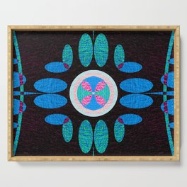 Charming Boho Neo Tribal Quilt Print Serving Tray