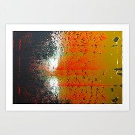 Bio-morphic Acid Wash Art Print