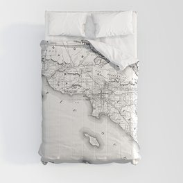 Southern California Map Comforters