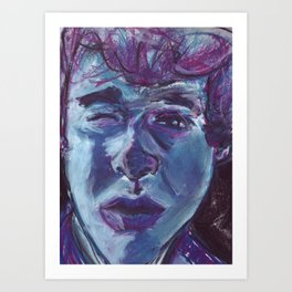 My face in soft pastel. Art Print