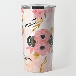 Night Meadow Blush Pink Travel Mug