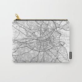 Dublin Map White Carry-All Pouch