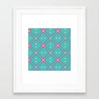 quilt Framed Art Prints featuring Quilt by Bunhugger Design