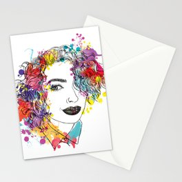 spring girl Stationery Cards