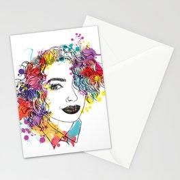 spring girl Stationery Cards