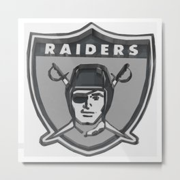 Raiders Shield 3D Metal Print