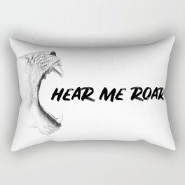 Hear Me Roar Rectangular Pillow