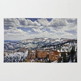 Bryce Canyon, Utah under a blanket of snow Rug