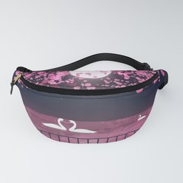 Swans and Cherry Blossoms Fanny Pack