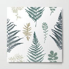 Illustration of fern seamless pattern Metal Print
