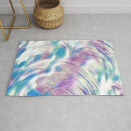 Pastel Penny the Yorkipoo art Rug