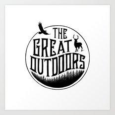 GREAT OUTDOORS Art Print