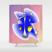astrology Shower Curtains featuring Astrology, Aquarius by Karl-Heinz Lüpke