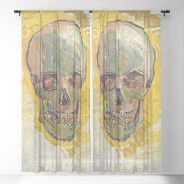 Skull by Vincent van Gogh, 1887 Sheer Curtain
