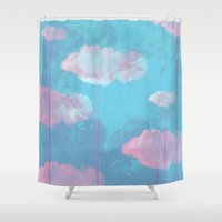 cloud Shower Curtains featuring Cloud  by Tony Vazquez