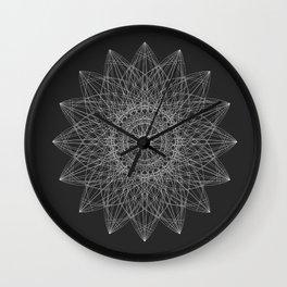 Flower Spirograph Wall Clock