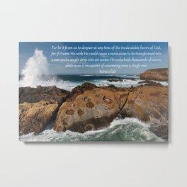 A Single Drop Into An Ocean Metal Print