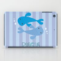 pisces iPad Cases featuring Pisces by Esther Ilustra
