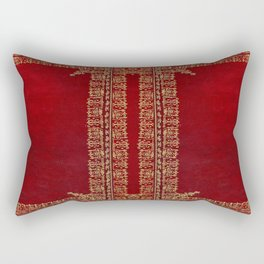Red and Gilded Gold Book Rectangular Pillow