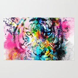 colorful tiger Rug