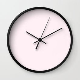 Lavender Blush Wall Clock