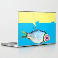 fishing Laptop & iPad Skins featuring Fishing by ilkai